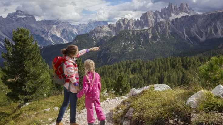 Take to to the trails of the Dolomites during your Italy family vacation.