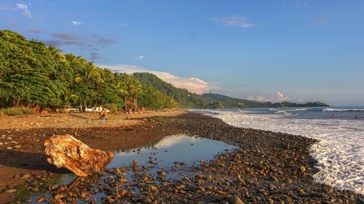 Dominical beach in Costa Rica