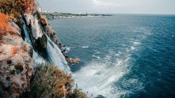 Duden waterfall is in Antalya, Turkey.