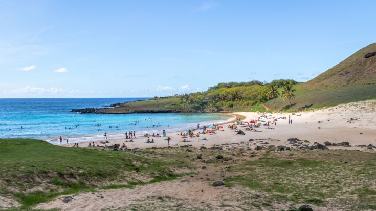 Anakena Beach in Easter Island