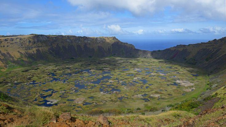 Rano Raraku Volcano in Easter Island