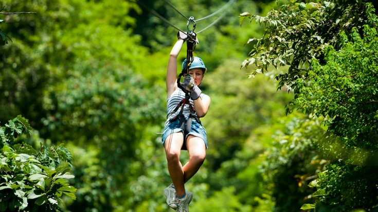 Eco tourism in Costa Rica zipline