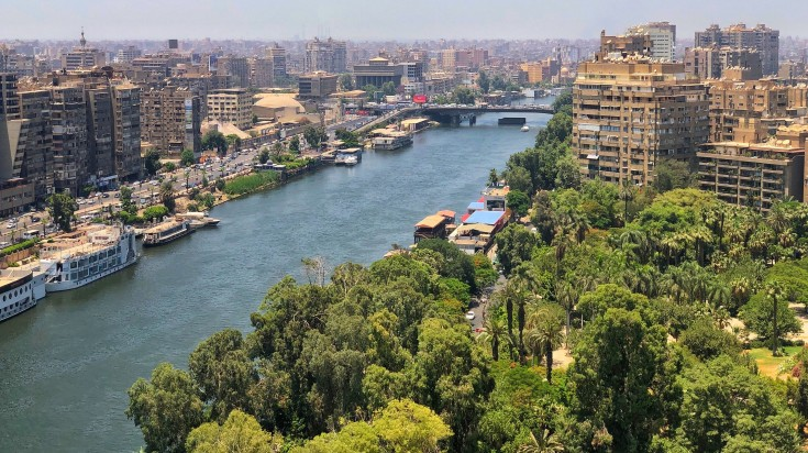 Cairo, the capital of Egypt is set on the Nile River