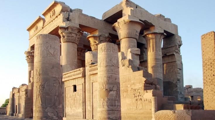The Kom Ombo Temple in he town of Kom Ombo in Aswan.
