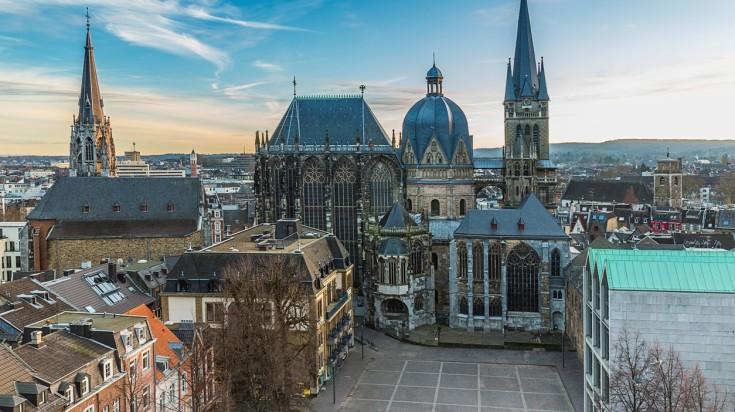 Aachen is where the Eifelsteig hiking trail starts