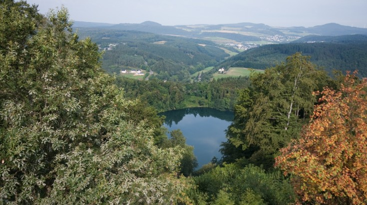 The three volcanic lakes in Daun are the crown jewels of Eifelsteig