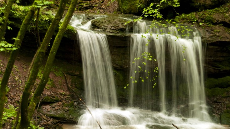 Waterfalls and rivers are common sightings on the Eifelsteig
