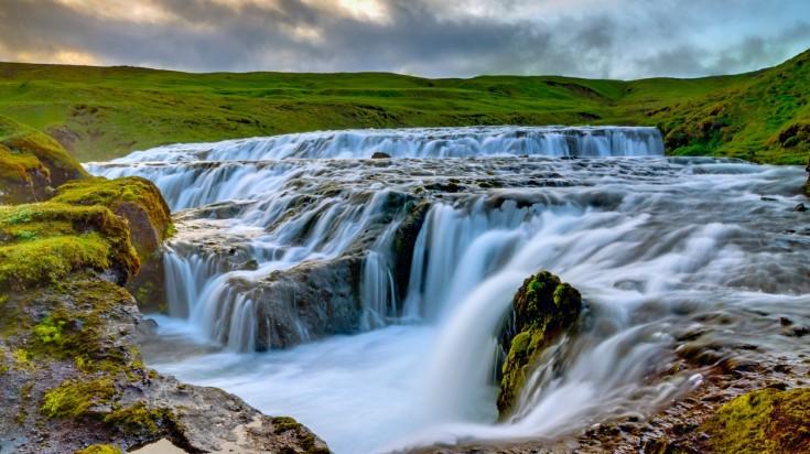 Skoga river waterfall in Fimmvorduhals trek