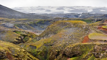 Fimmvorduhals hike trail in Iceland