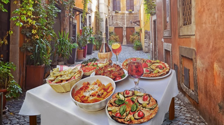 It is suggested not to drink anything apart from wine or water while dining in Italy.