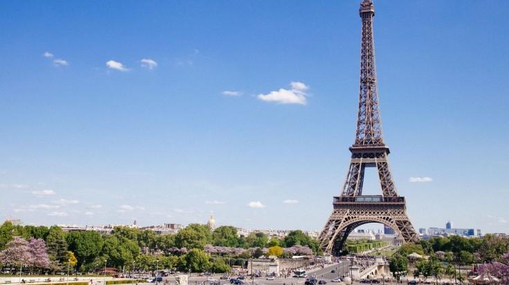Paris during spring in France