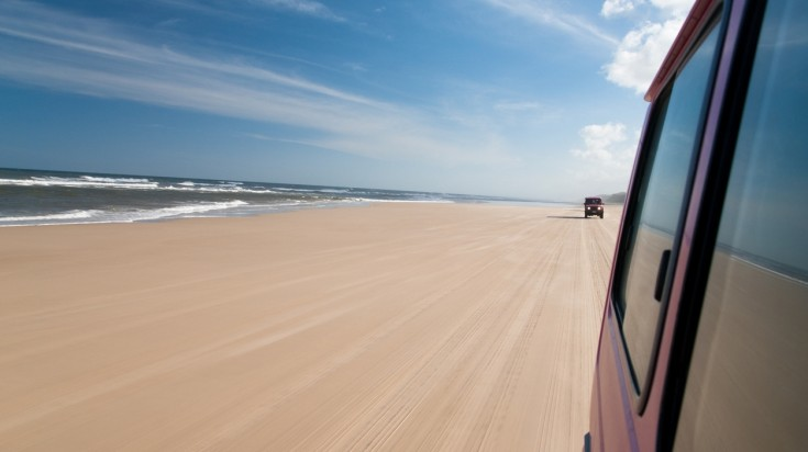 75 mile beach is the longest coastal drive in the world