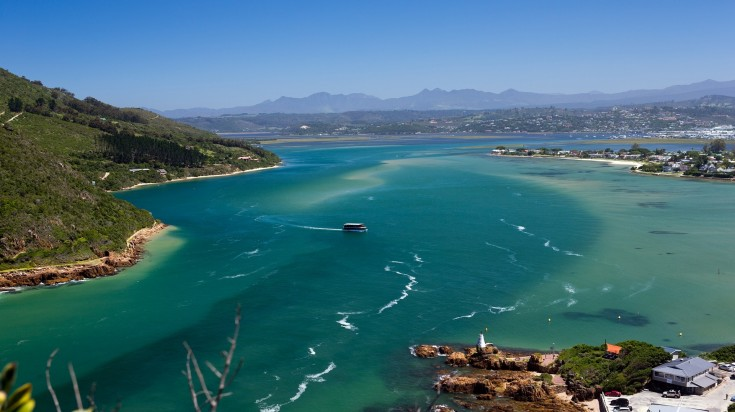 Knysna Lagoon in Garden Route National park
