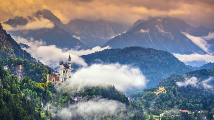 Neuschwanstein is one of the most popular tourist attractions in Germany