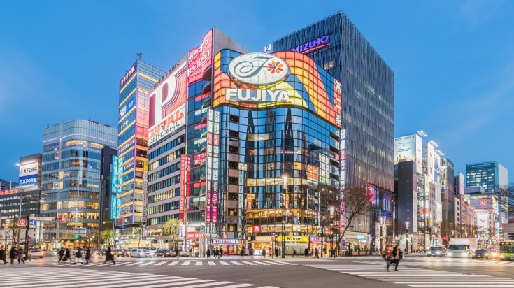Ginza, a highly recommended place to be during the Tokyo Olympics 2020 is a popular shopping destination in Tokyo filled with stores.