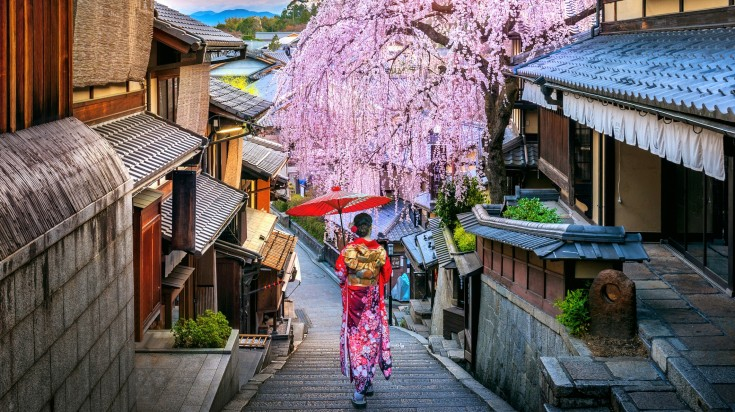 Kyoto is the one of the top places to visit in Japan if you want to meet a geisha.