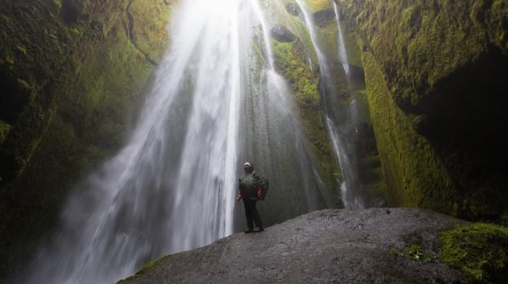 Gljufrabui waterfall is one of the most beautiful waterfalls in Iceland