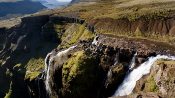Glymur waterfall in Iceland is perfect for one day hike