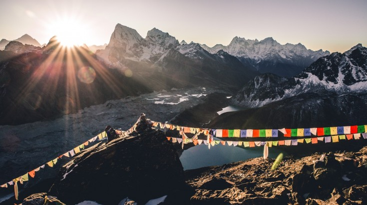 Tibetain prayer flags symbolizes each element i.e air,fire,water,earth,wind