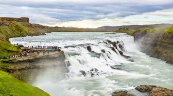 The Golden Circle Tour in Iceland cover the stunning Gullfoss waterfall