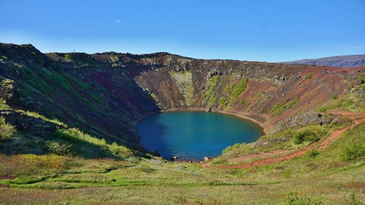 The Golden Circle in Iceland includes a visit to the Kerid crater