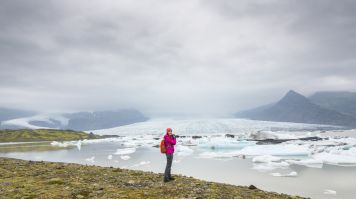 Myrdalsjokull glacier is a perfect place for hiking