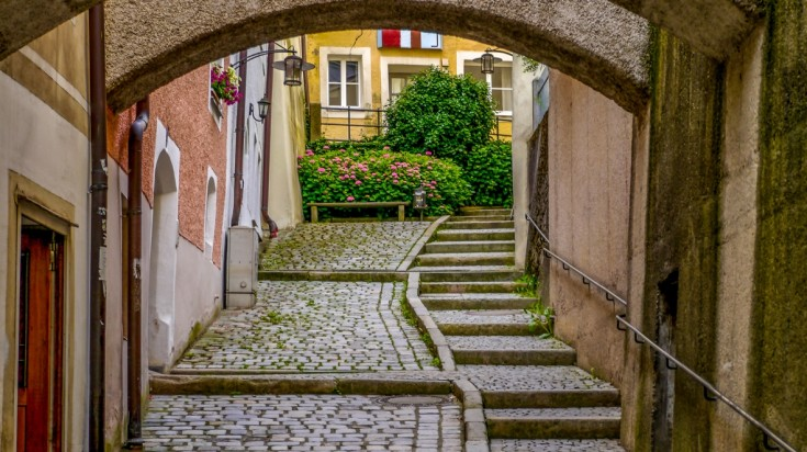 Passau is the ending point of Goldsteig hiking trail