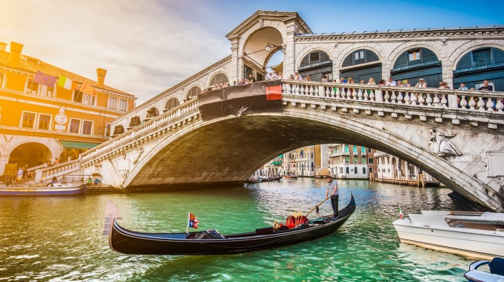 Venice is one of the best places to visit in Italy and is best explored in a Gondola.
