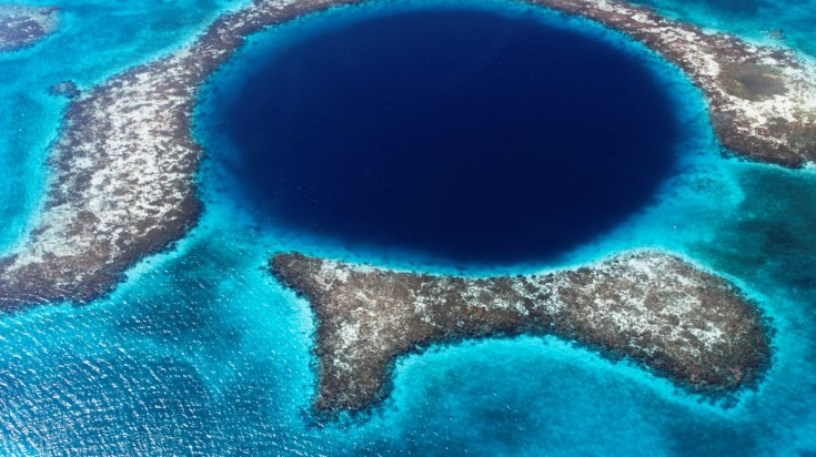 The Great Blue Hole is definitely one of the most unique dive sites