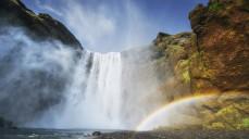 Great waterfall Skogafoss