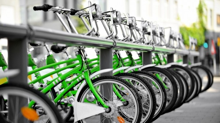While taxis are faster, renting bikes cost a lot less