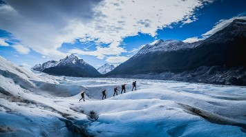Ice-hiking on Glacier Grey in Patagonia