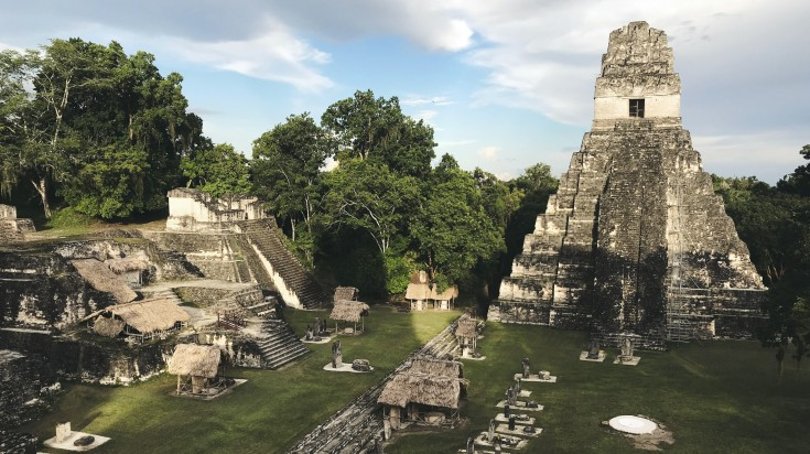 The Tikal Mayan ruins, one of the most popular attraction of Guatemala