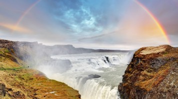 Gullfoss waterfall  is one of the most beautiful waterfalls in Iceland