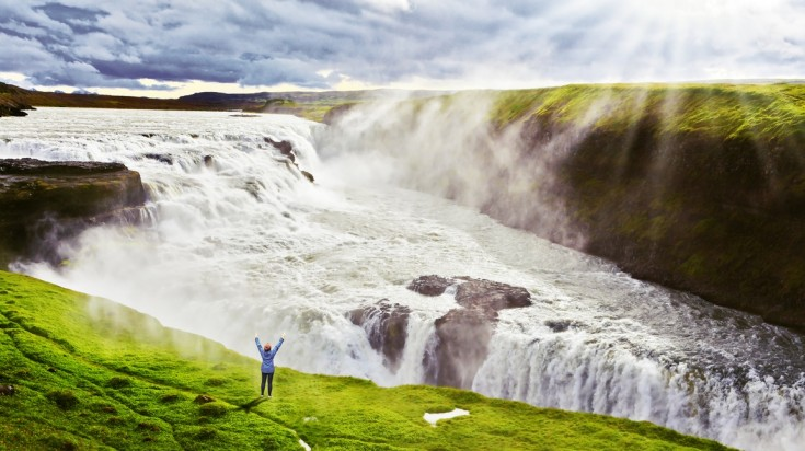 Gullfoss waterfall is on every visitor's itinerary to Iceland