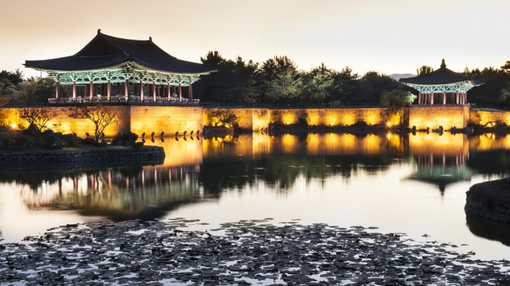 Gyeongju is South Korean city that is well known for its old temples.