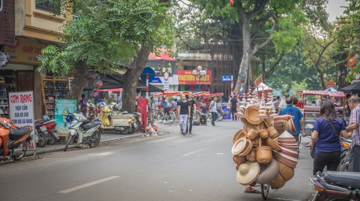 Hanoi is perfect for cycling in Vietnam