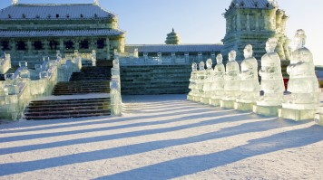 Ice figurines at the Harbin Ice Festival