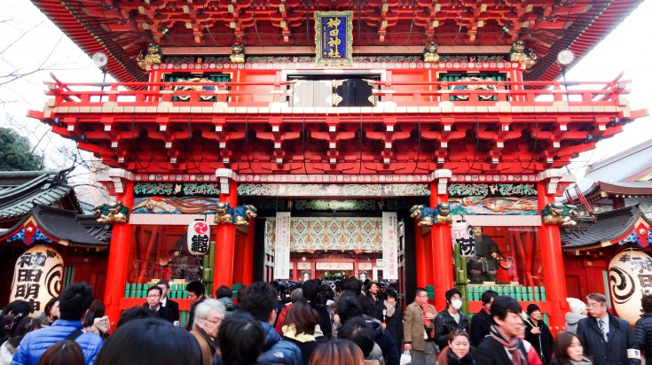 Hatsumode is the first visit to a shrine during Japanese New Year.