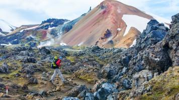 Hiking in Hekla Volcano