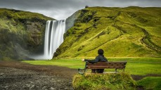 Skogafoss, possibly the most famous waterfall along Iceland's Ring Road