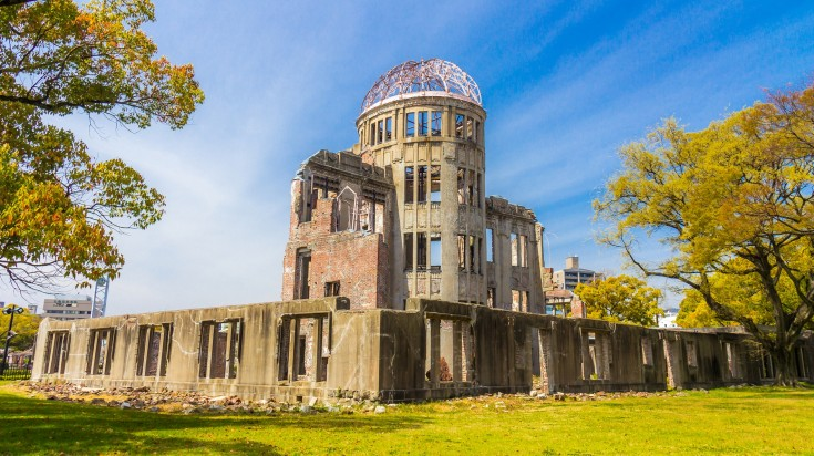 The epicenter of the bombing in WW2, the Peacce Memorial Park in Hiroshima is one of the most interesting places to visit in Japan.