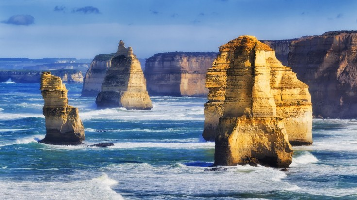 Visit the 12 Apostles on a honeymoon in Australia