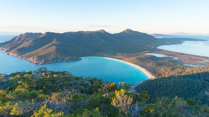 honeymoon in Australia, Wineglass bay