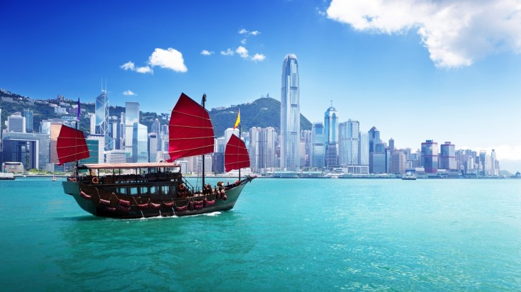 Discover a bustling city in Asia by visiting Hong Kong.