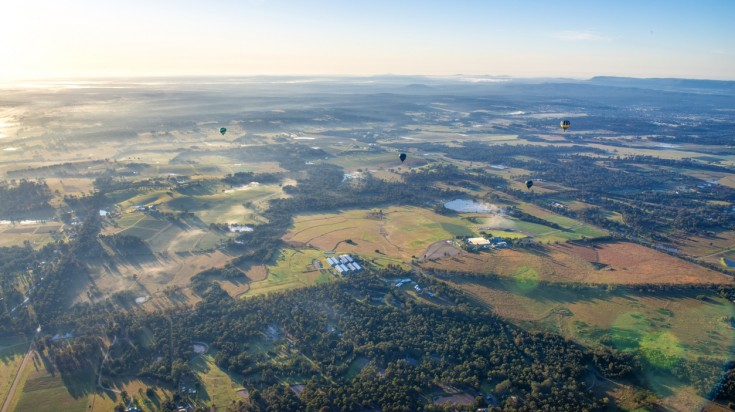 When in Hunter Valley, take a scenic flight