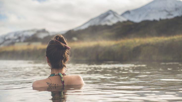 Lanmannalaugar hot spring in Iceland