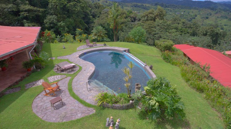 Nepenthe is a hotel in Arenal that is surrounded by lush rainforest.