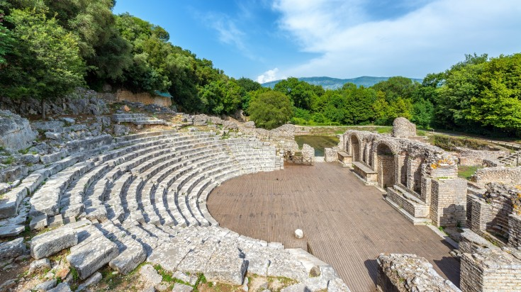Ancient theatre ruins in Butrint