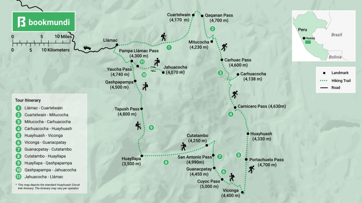 Huayhuash Circuit map
